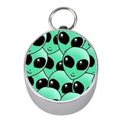 Alien Mini Silver Compasses