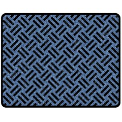 WOV2 BK-MRBL BL-LTHR (R) Double Sided Fleece Blanket (Medium)