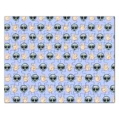 Alien Pattern Rectangular Jigsaw Puzzl