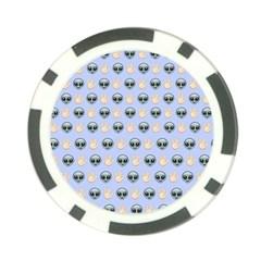 Alien Pattern Poker Chip Card Guard