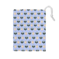 Alien Pattern Drawstring Pouches (large)