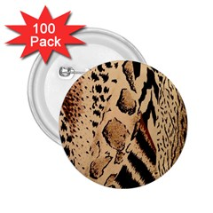 Animal Fabric Patterns 2.25  Buttons (100 pack)