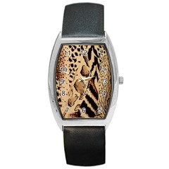 Animal Fabric Patterns Barrel Style Metal Watch