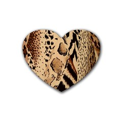 Animal Fabric Patterns Heart Coaster (4 pack)