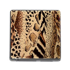 Animal Fabric Patterns Memory Card Reader (square)