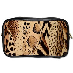 Animal Fabric Patterns Toiletries Bags 2 Side