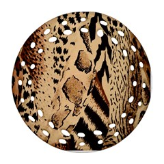 Animal Fabric Patterns Round Filigree Ornament (Two Sides)