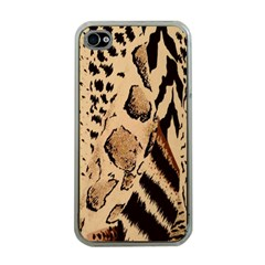 Animal Fabric Patterns Apple Iphone 4 Case (clear)