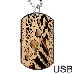 Animal Fabric Patterns Dog Tag Usb Flash (two Sides)