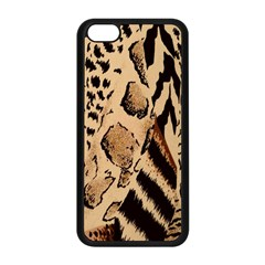 Animal Fabric Patterns Apple iPhone 5C Seamless Case (Black)
