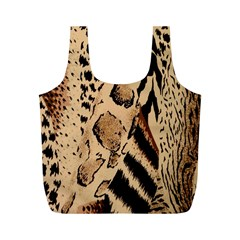 Animal Fabric Patterns Full Print Recycle Bags (m)