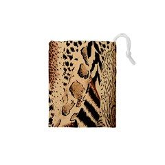 Animal Fabric Patterns Drawstring Pouches (XS)