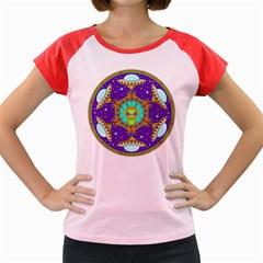 Alien Mandala Women s Cap Sleeve T Shirt