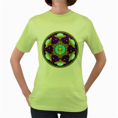 Alien Mandala Women s Green T-Shirt