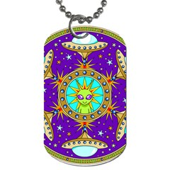 Alien Mandala Dog Tag (One Side)