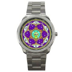 Alien Mandala Sport Metal Watch