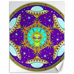 Alien Mandala Canvas 12  x 16