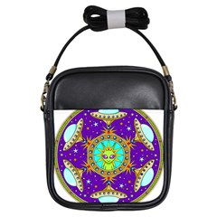 Alien Mandala Girls Sling Bags