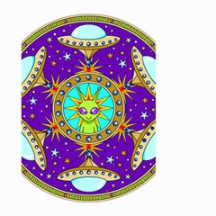 Alien Mandala Small Garden Flag (two Sides)