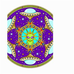 Alien Mandala Large Garden Flag (two Sides)