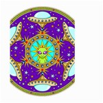 Alien Mandala Large Garden Flag (Two Sides) Back