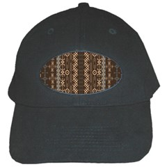 African Style Vector Pattern Black Cap