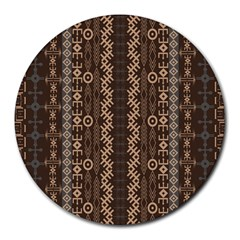 African Style Vector Pattern Round Mousepads