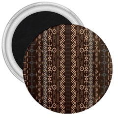 African Style Vector Pattern 3  Magnets