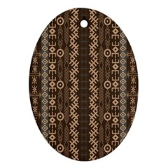 African Style Vector Pattern Ornament (oval)