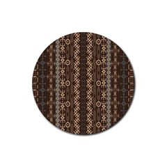 African Style Vector Pattern Rubber Round Coaster (4 pack)