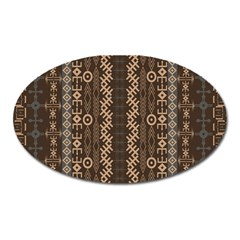 African Style Vector Pattern Oval Magnet