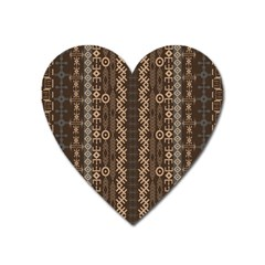 African Style Vector Pattern Heart Magnet