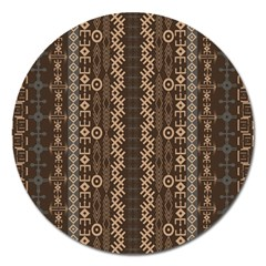 African Style Vector Pattern Magnet 5  (Round)