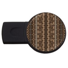African Style Vector Pattern USB Flash Drive Round (2 GB)