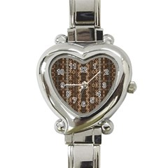 African Style Vector Pattern Heart Italian Charm Watch