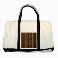 African Style Vector Pattern Two Tone Tote Bag