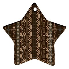 African Style Vector Pattern Star Ornament (Two Sides)