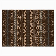 African Style Vector Pattern Large Glasses Cloth