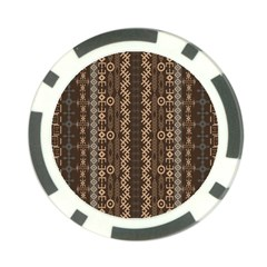 African Style Vector Pattern Poker Chip Card Guard