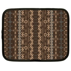 African Style Vector Pattern Netbook Case (large)