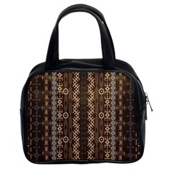 African Style Vector Pattern Classic Handbags (2 Sides)