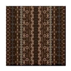 African Style Vector Pattern Face Towel