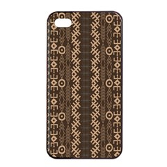 African Style Vector Pattern Apple iPhone 4/4s Seamless Case (Black)