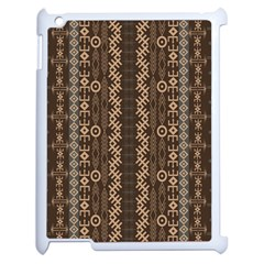 African Style Vector Pattern Apple iPad 2 Case (White)