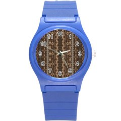 African Style Vector Pattern Round Plastic Sport Watch (S)