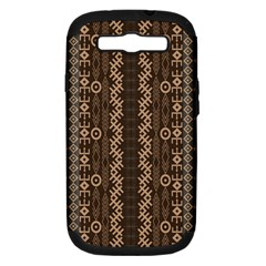 African Style Vector Pattern Samsung Galaxy S Iii Hardshell Case (pc+silicone)