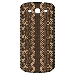 African Style Vector Pattern Samsung Galaxy S3 S III Classic Hardshell Back Case