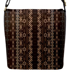 African Style Vector Pattern Flap Messenger Bag (S)