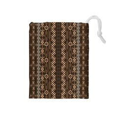 African Style Vector Pattern Drawstring Pouches (Medium)