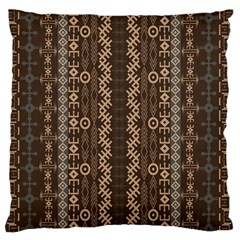 African Style Vector Pattern Large Flano Cushion Case (One Side)